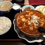 52748865 - 麻婆豆腐定食、700円です。