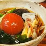 蕎麦 いち - 冷やしトマト蕎麦1,200円