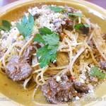 肉バル RISE - 牛肉のラグソーススパゲティー (大盛 \150増し)
