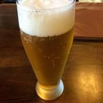 のんき亭 - のんき亭(生ビール小)
