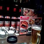 ザ・肉餃子 四川厨房 - 生ビールとカウンター