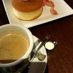 Cafe Miyama - モーニングDセット『パンケーキ』¥600-