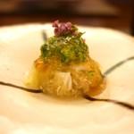 日本料理 晴山 - イカと加賀太茄子 オクラ和え