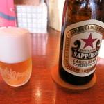 52768298 - 瓶ビール サッポロ赤星(700円)