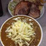 仲間 - 黄蝮(ベジポタカレーつけ麺)+豚1枚