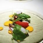 オルグイユ - 生蛸のデクリネゾン トマト味のガスパチョ
