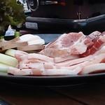 オリエンタルビレッジビアガーデン - 豚肉セット