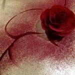 52771148 - ビーツの花びら、花芯にフォアグラのパテと薔薇ゼリー