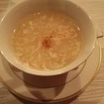 52773254 - 蟹肉 蟹卵入りホワイトアスパラガススープ