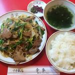 李家 - レバニラ炒め定食 700円