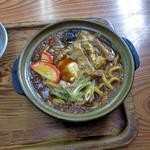 三八屋 - 料理写真:味噌煮込みうどんwith生たまご