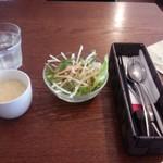 幡ヶ谷CAFE - 日替わりランチのセットサラダとスープ