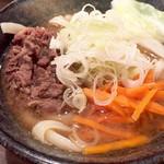 taishuubanikusakabafujiyama - 〆の吉田の肉うどんミニ