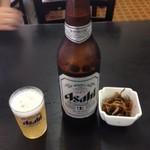 52780642 - 瓶ビールとお通し