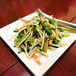 健康中華庵 青蓮 - もやしとニラの炒め物