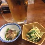 52784576 - 生ビールと小鉢