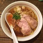 フリーフローランチ - 鶏清湯 中華そば (中盛) 750円