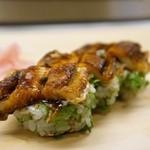 鮓廣嶋 - やはり菊水系と言えば、刻み大葉の穴子棒寿司ですね♪