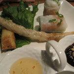 Vietnamese-Japanese Dining Bar ぽんぽこ - 生春巻き&揚げ春巻き