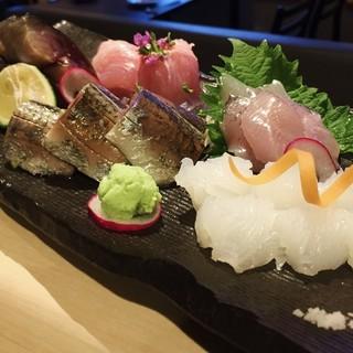 新鮮な魚料理