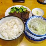 味の牛たん 喜助 - 牛たん炭火焼定食1.5人前