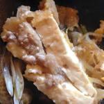 52793384 - 豆腐の中にひき肉がー!すぐにボロボロしてしまう