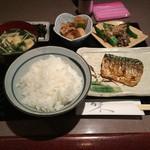 料理とお酒 ちどり - 焼魚定食 塩鯖 650円