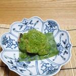 胡蝶 - スズキの緑酢かけ