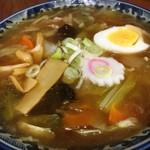 かねだ食堂 - 五目あんかけ麺(醤油)