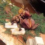 5280613 - 前菜。こんな美味しい栗は初めていただきました。