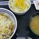 吉野家 1号線豊明店 - チーズ牛丼 並+Aセット