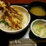 鳥元 - 元祖 豪快鶏天丼750円