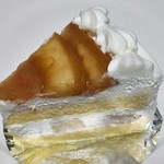 パティスリー ホソヤ - モモのショートケーキ