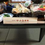 小島旅館 - 料理写真:夕食 刺身、天ぷら等盛りだくさん!