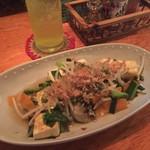 うちなー食堂 島家 - 豆腐チャンプルー、はちみつシークワーサー