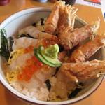 いか太郎 - 料理写真:【もさ海老丼】アップ♪