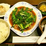 52814299 - レバニラ炒め定食(焼売付)