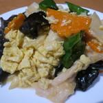 金海湾 - 豚肉、きくらげと玉子炒め