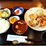 蓮 - 唐揚げ定食700円。