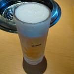 焼肉マルイシ - キンキンなビール