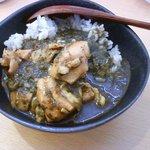 Curry&Cafe香炉里 - チキンとほうれん草のカレー(ハーフサイズ)