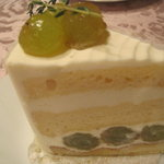 ロートンヌ - 巨峰のショートケーキ