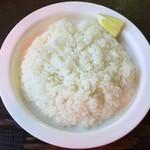 Supukariandohambagutatsuki - ライスの檸檬がもう少し大きいと嬉しいです。