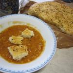 アリ ベーカリー - お豆のスープと一緒にいただきました☆