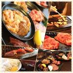 豊田本町ホルモンセンター総本家 -  ✨Today's Lunch✨980yen税込 焼肉ランチ(タン、カルビ、ハラミ、レバー、鶏、ホルモン) ご飯生卵とスープ食べ放題