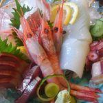 但馬かまどめし 気比の里 - 津居山、香住魚の刺身盛り合わせ