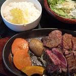 恵比寿 鐵玄 - ラムモモステーキ定食1,100円