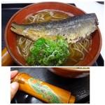 52830060 - 私は「にしんそば(1000円)を。「にしん」好きですし、京都ですので食べないとね。                       「にしん」は大きくて甘辛いお味付も丁度よく美味しい。