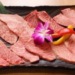 清花園 - 料理写真:極上和牛6種盛り