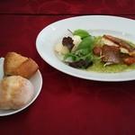 52831531 - 真鯛のオーブン焼きとパン